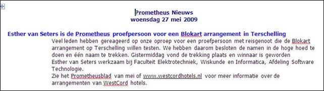 PV nieuws 20090527