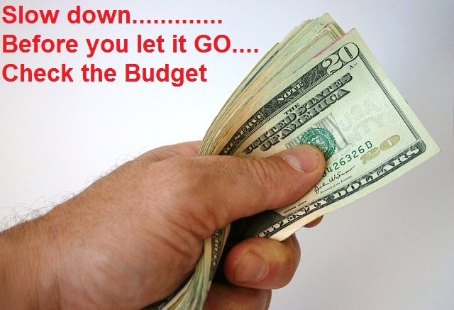 Before you let it go, budget your cash.