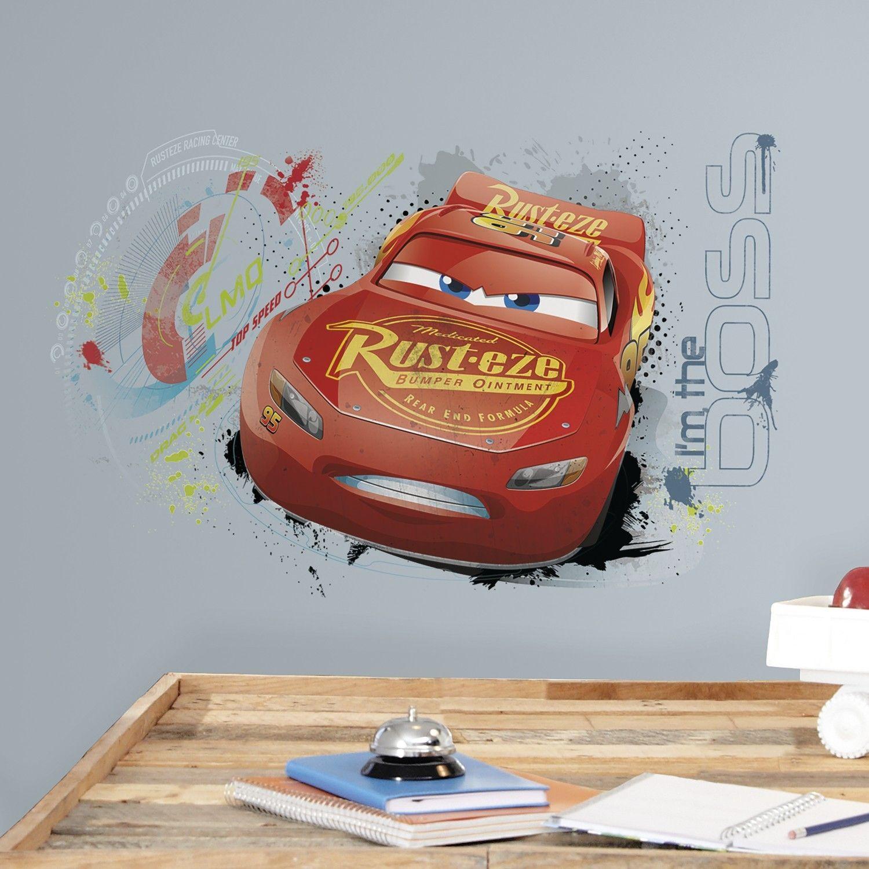 sticker mural cars 3 flash mcqueen