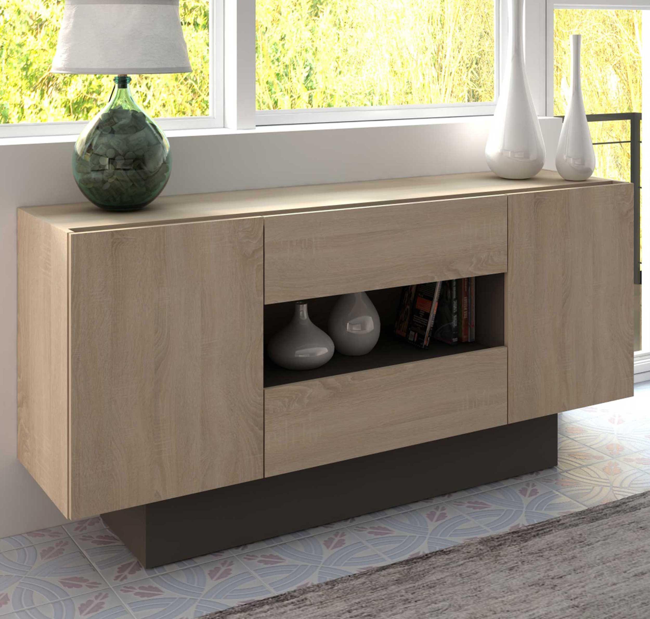 bahut meuble tv ivo 160cm brun