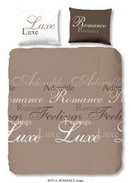 Dekbedovertrek Romance Taupe 200x220cm  Emobnl