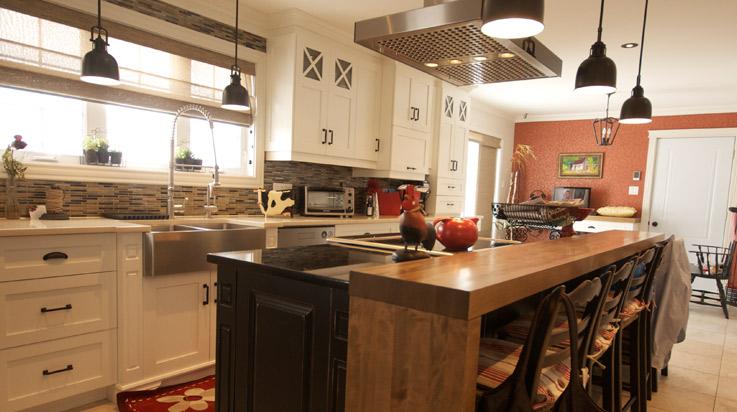 Transitionnelle  bnisterie Modle  Ralisation et conception darmoires de cuisine de salle