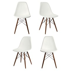 White Dining Chairs Set Of 4 Bedroom Chair Online Eames Style Dsw Molded Plastic Shell