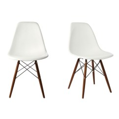 White Shell Chair Mickey Mouse Kids Set Of 2 Eames Style Dsw Molded Plastic Dining