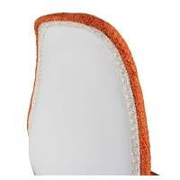 Orange Fabric Upholstered Mid-Century Eames Style Accent ...