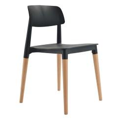 Black Side Chair Swivel Helinox Bel Dining Bistro Cafe Modern Minimalist