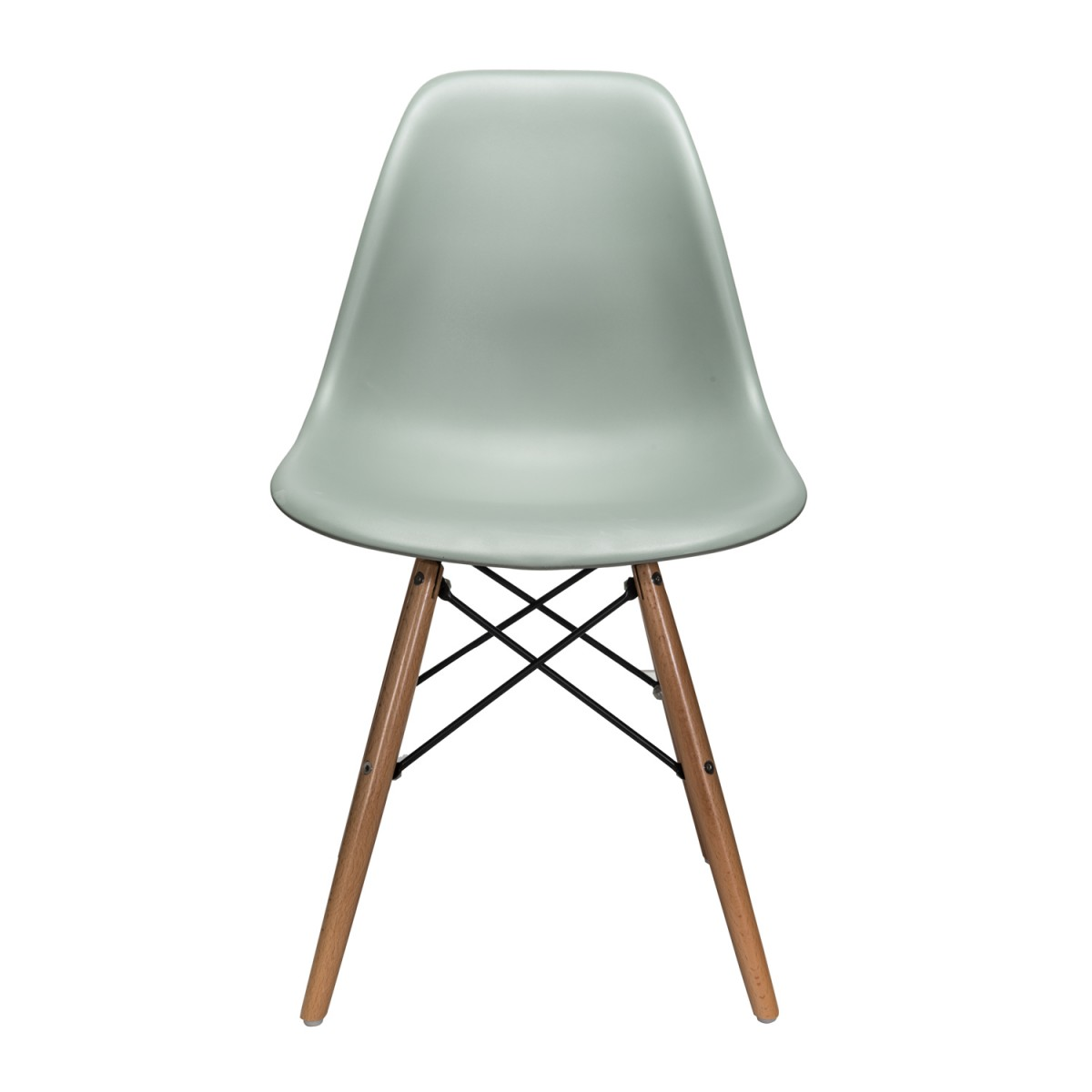 eiffel dining chair with beech legs target furniture folding chairs nature series moss gray dsw molded plastic side
