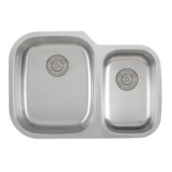 30 Undermount Kitchen Sink Short Wall Cabinets Inch 18 Gauge Stainless Steel 60 40 Double