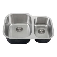 Double Bowl Kitchen Sink Kohler Faucets Parts 30 Inch 18 Gauge Stainless Steel Undermount 60 40
