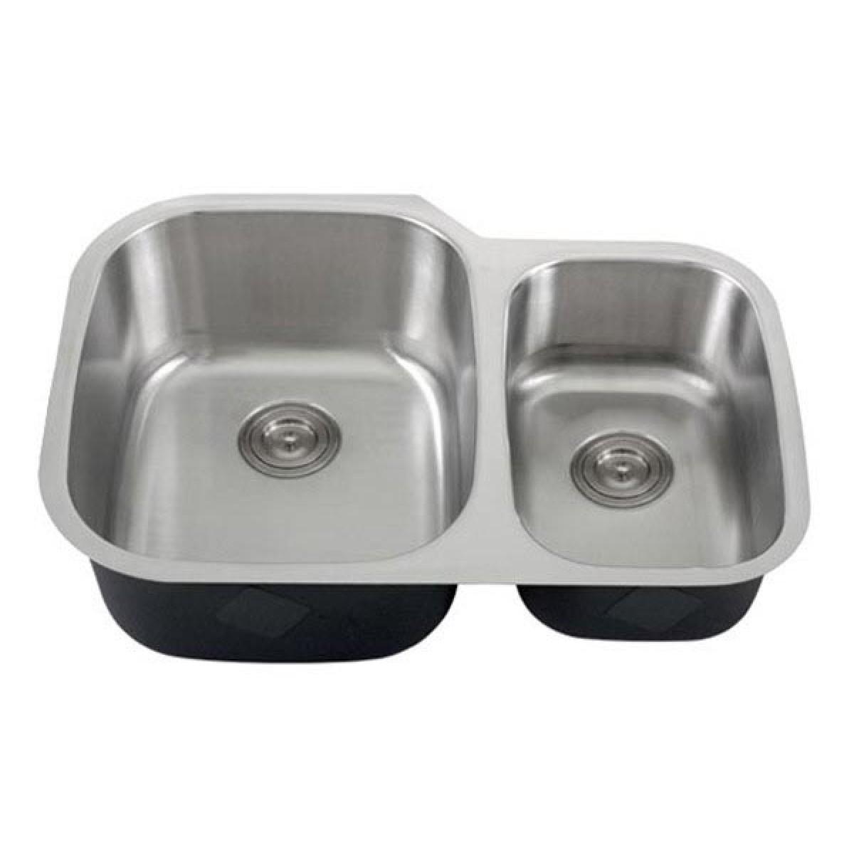 30 undermount kitchen sink wooden tables inch 18 gauge stainless steel 60 40 double