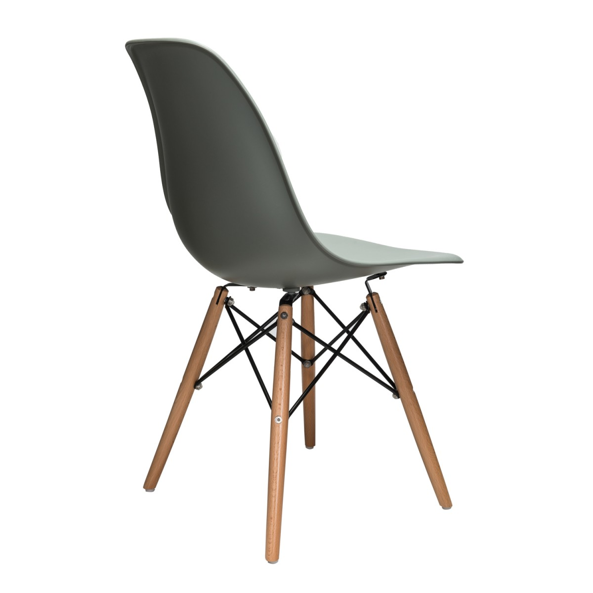 eiffel dining chair with beech legs white egg chairs for sale nature series moss gray dsw molded plastic side