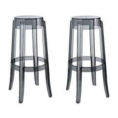 Ghost Chair Bar Stool Statesville Company Set Of 2 Victoria Style Smoke Color