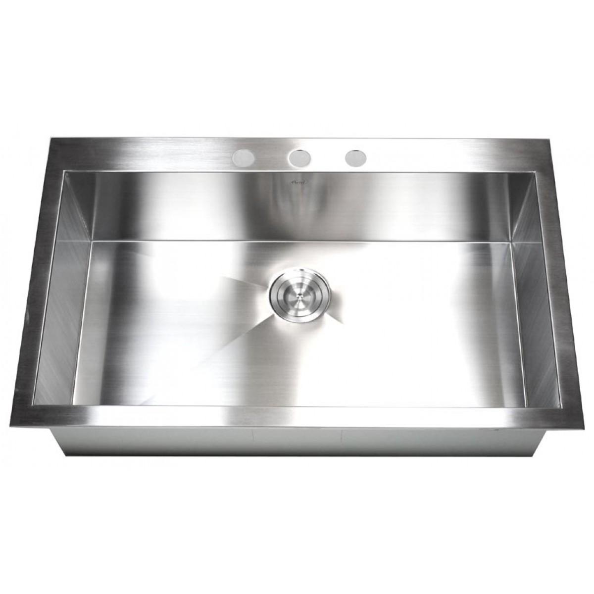 stainless steel single bowl kitchen sink target storage 36 inch top mount drop in super