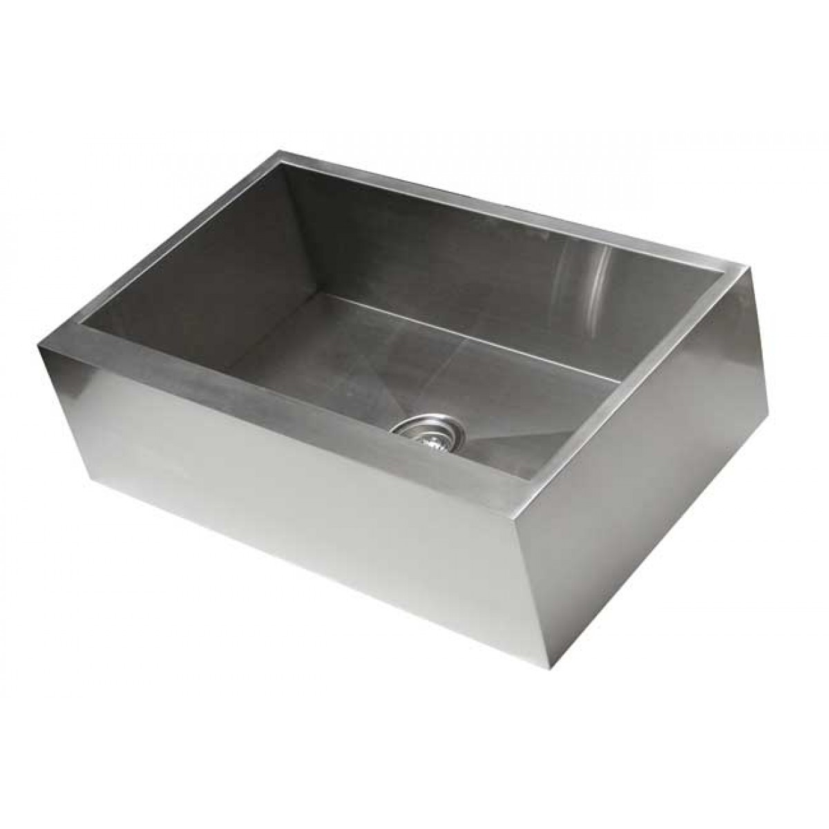 30 inch kitchen sink tall table and chairs stainless steel single bowl flat front farm apron