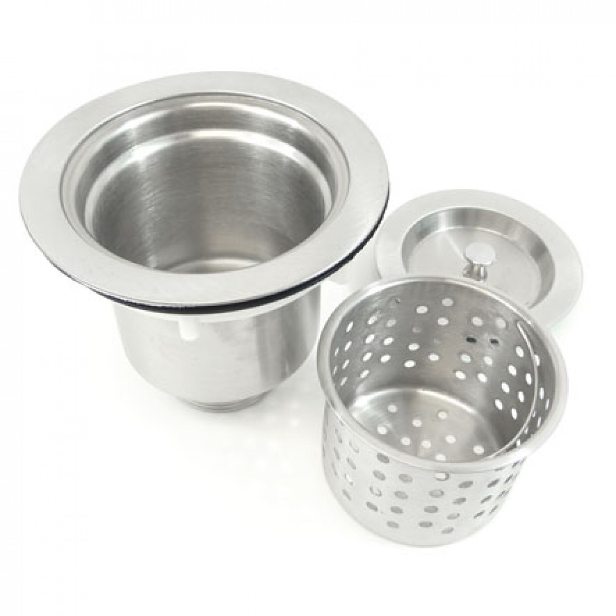 kitchen sink basket strainer counter height table sets bar with lift out