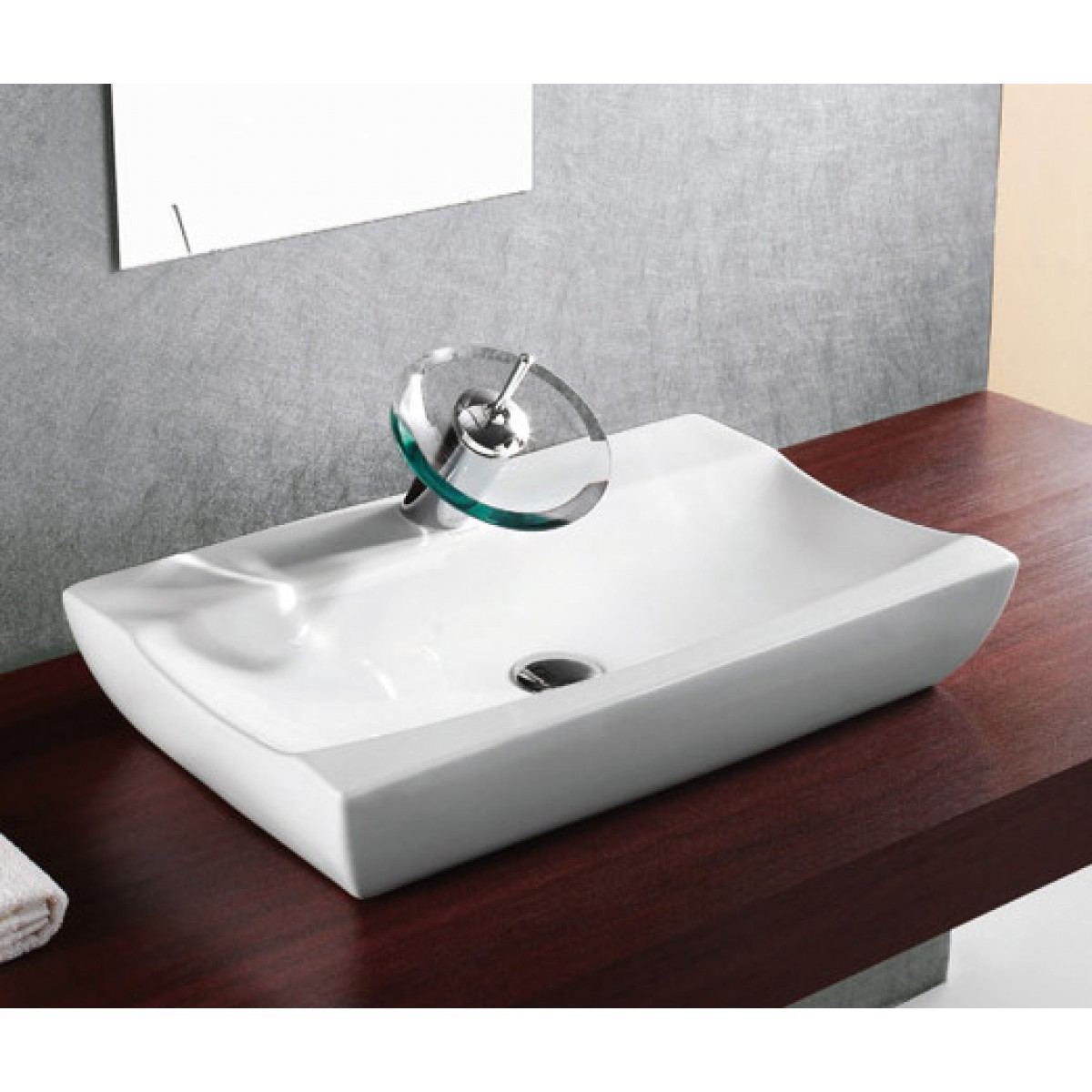 Porcelain Ceramic Single Hole Countertop Bathroom Vessel
