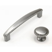 Bead 4-1/4 inch Cabinet Pull Handle Brushed Nickel Finish