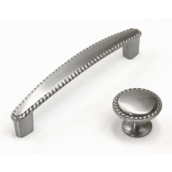 Brushed Nickel Kitchen Hardware Sprouted Book Bead Cabinet Pull Knob Finish