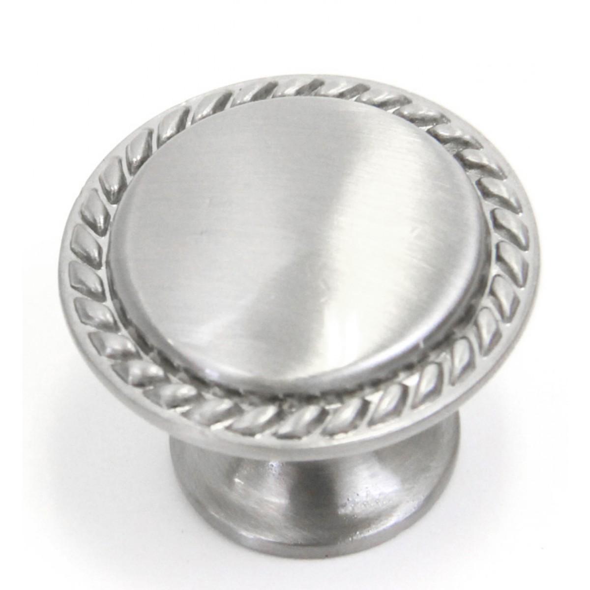 Bead Cabinet Hardware Pull Knob Brushed Nickel Finish