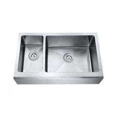 Stainless Steel Farmhouse Kitchen Sink Ceiling Lighting Fixtures 33 Inch Smooth Flat Front Apron