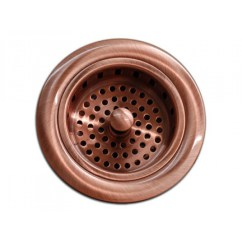 Kitchen Sink Basket Strainer Cabinet With Glass Doors Bar Copper 3 5 Inch