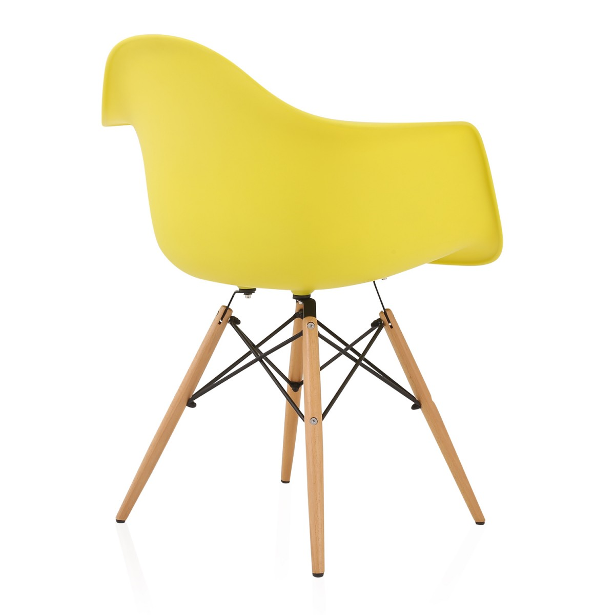 eiffel dining chair with beech legs farmhouse chairs for sale eames style daw light yellow plastic armchair