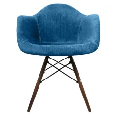 Aqua Accent Chair Portable Lift Device Blue Velvet Fabric Eames Style Arm