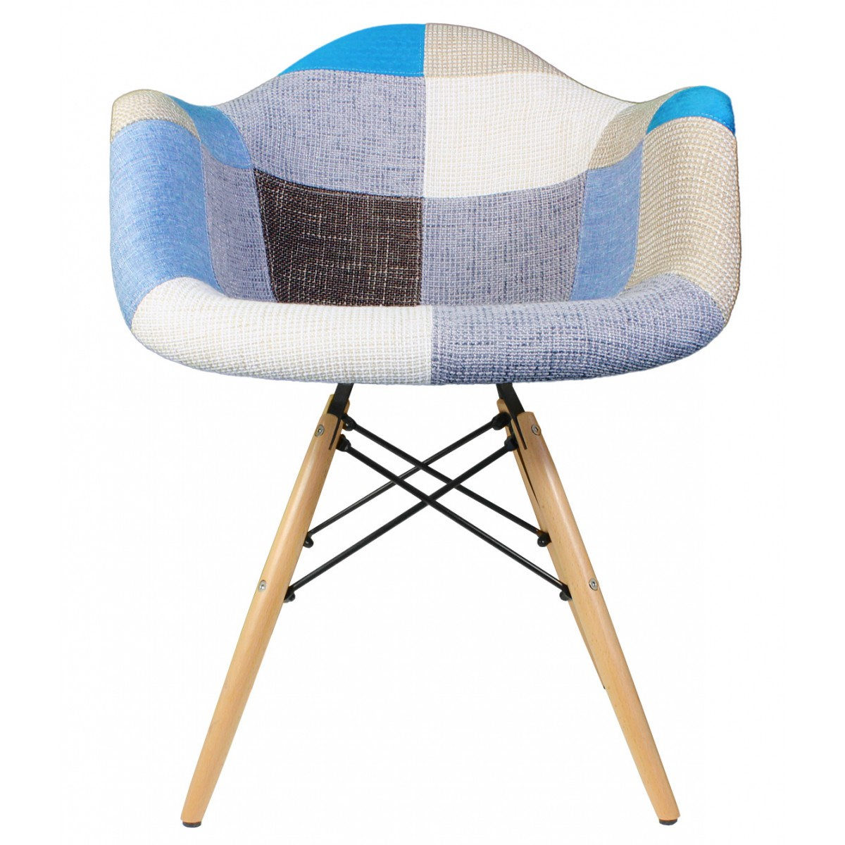 tub fabric accent chair patchwork posture and ottoman upholstered mid century eames style