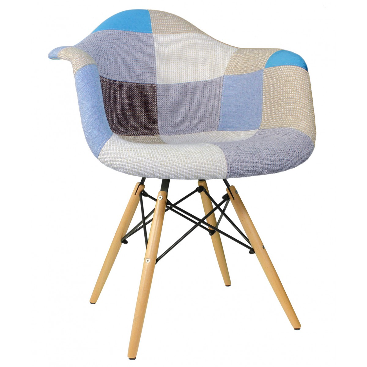 tub fabric accent chair patchwork bean bag replacement covers upholstered mid century eames style