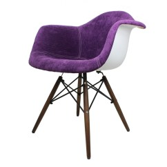 Purple Accent Chair Leather Recliner Swivel Flannel Fabric Eames Style Arm With