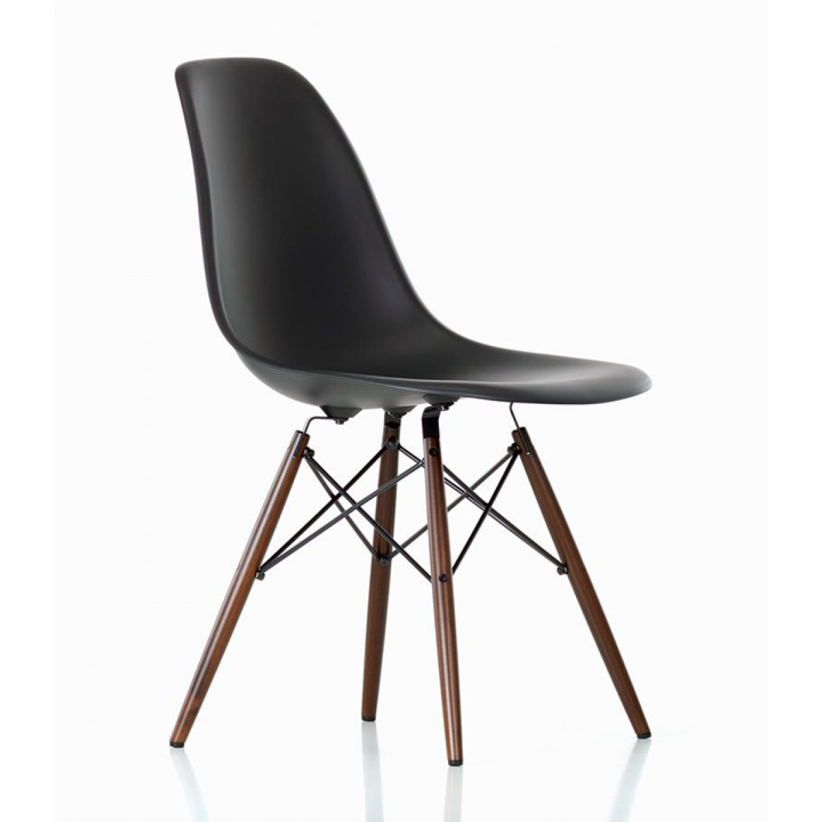 black plastic chair with wooden legs covers in china set of 4 eames style dsw molded dining shell