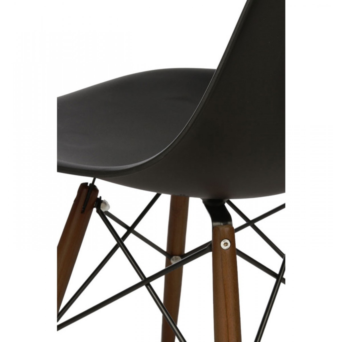 black plastic chair with wooden legs revolving in surat set of 4 eames style dsw molded dining shell