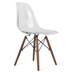 Clear Dining Chair La Z Boy Covers Eames Style Dsw Acrylic Plastic Shell