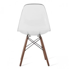 Clear Acrylic Chair Black Covers Party City Eames Style Dsw Plastic Dining Shell