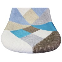 Patchwork Fabric Upholstered Mid-Century Eames Style ...