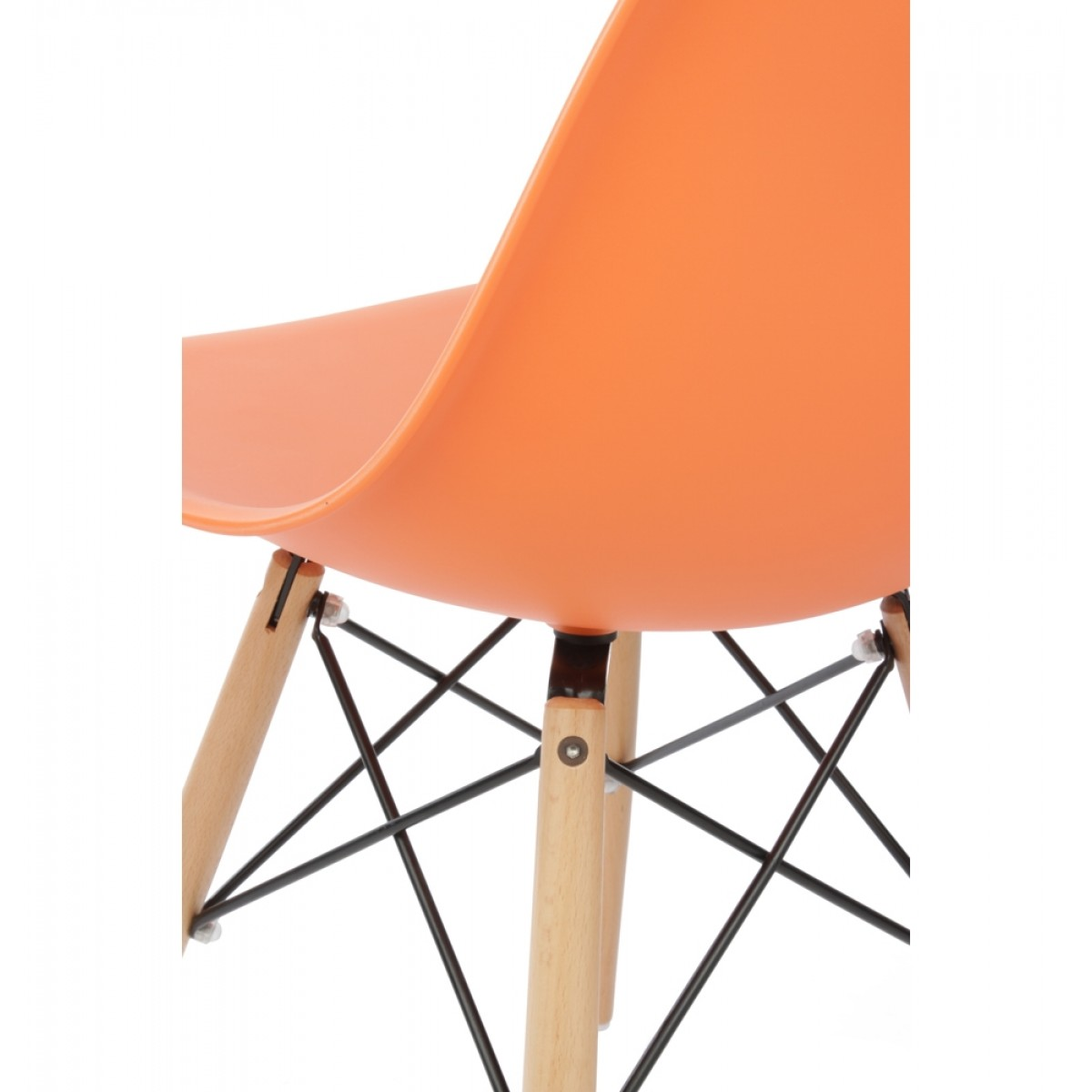 shell chair knock off and a half with ottoman canada eames style dsw molded orange plastic dining