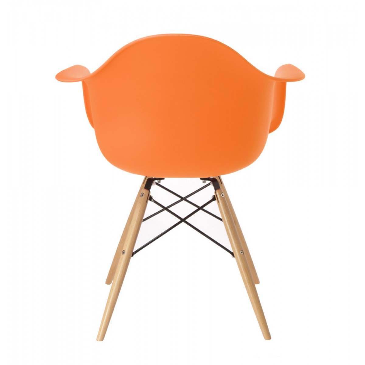 eiffel dining chair with beech legs stokke tripp trapp high complete 4 piece bundle eames style daw molded orange plastic armchair