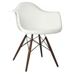 Eames Arm Chair Best Rocking Chairs Style Daw Molded In White Plastic Dining Armchair With Dark Walnut Wood Eiffel Legs