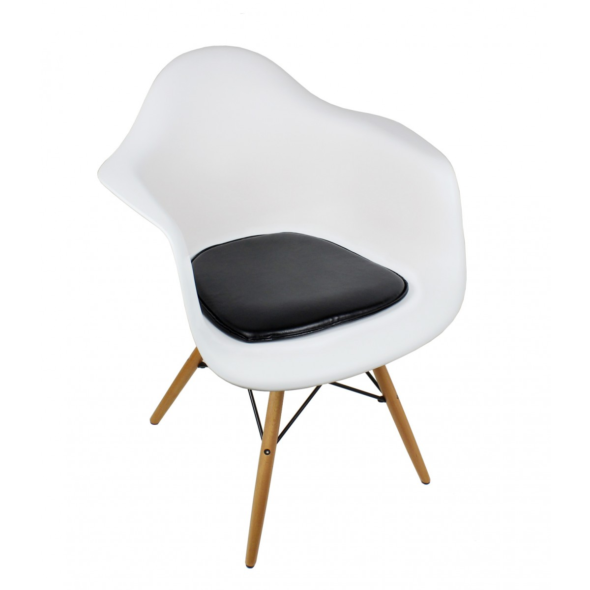 eames chair cushion wheelchair dimension seat for style dining and armchair