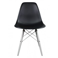 White Shell Chair Cover Ideas For Christmas Black Eames Style Dsw Molded Plastic Dining