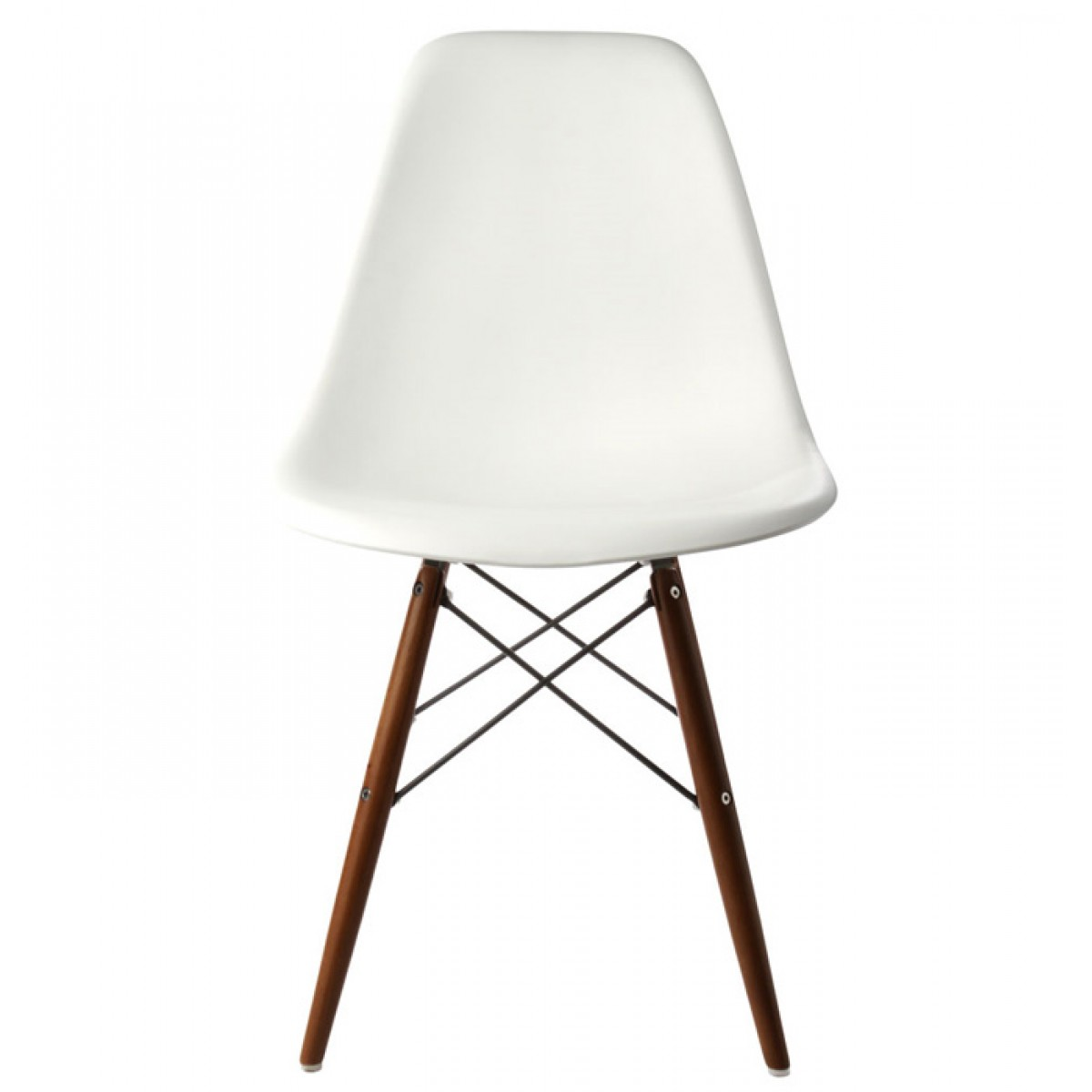 white shell chair best computer ever eames style dsw molded plastic dining