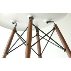 Eiffel Chair Wood Legs Positions On A Eames Style Dsw Molded White Plastic Dining Shell