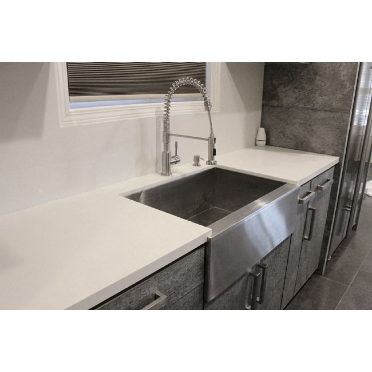 stainless steel farmhouse kitchen sink ikea designs 33 inch flat front apron