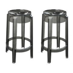 Ghost Bar Chair Outdoor Covers Costco Set Of 2 Victoria Style Counter Stool Smoke Color
