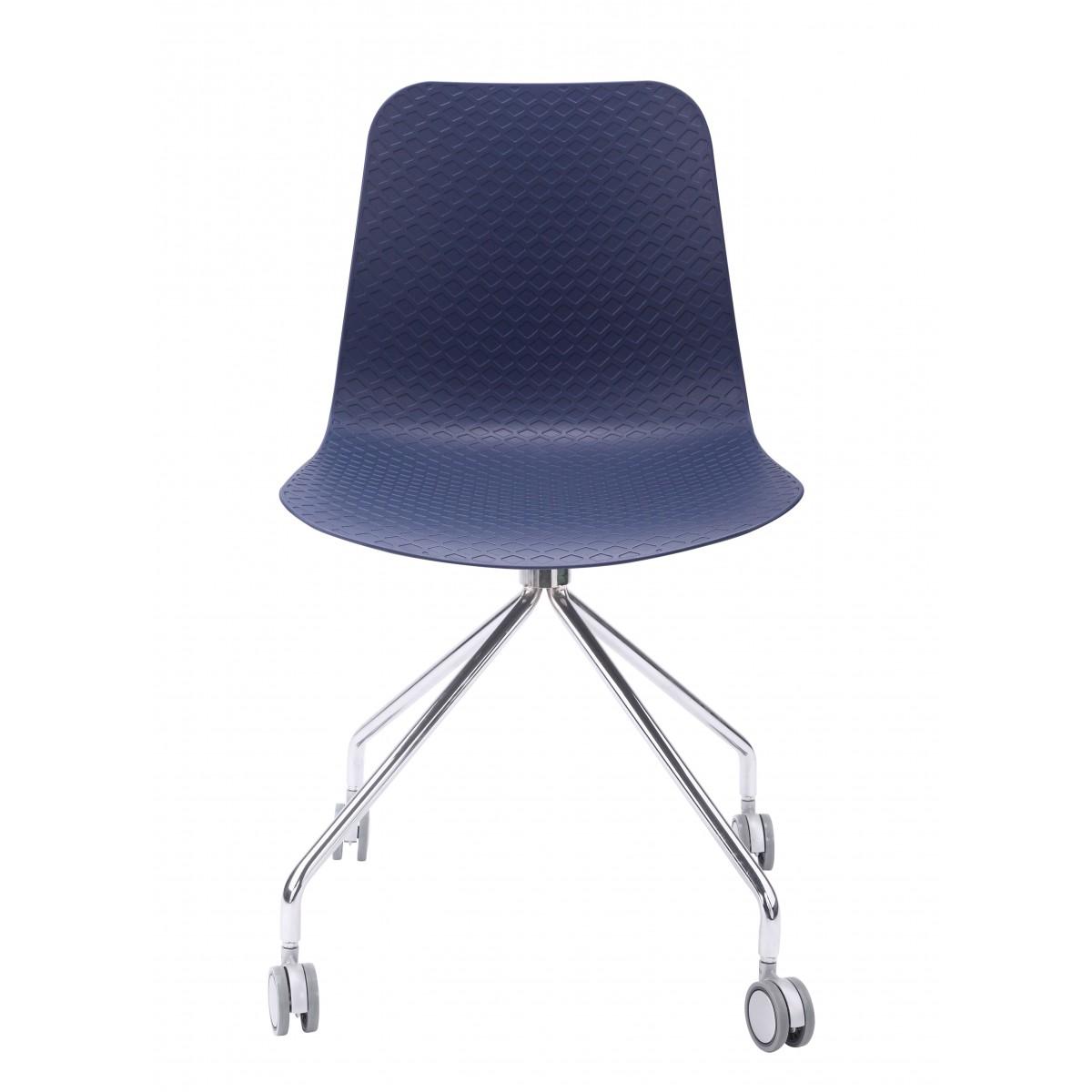 Hebe Series Navy Office Chair Molded Plastic Designer Task
