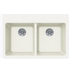 White Kitchen Sink Undermount Granite Sinks Quartz Composite Double Bowl Drop In