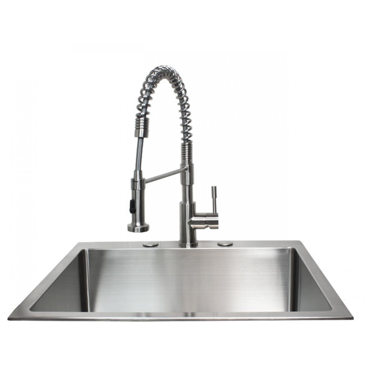 coiled kitchen faucet commercial shelving european style lead free coil spring duel spout brushed
