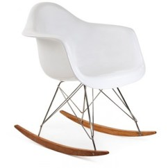 Plastic Rocking Chair Converts To Bed Eames Style Rar Molded White With