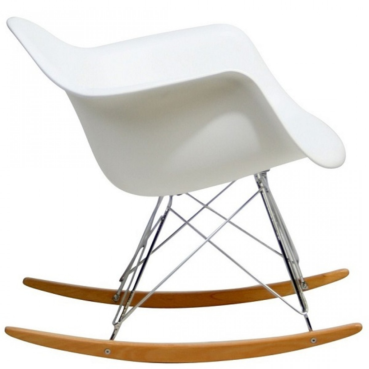 plastic chairs with steel legs rocking chair woodworking plan eames style rar molded white