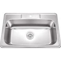 33 Inch Stainless Steel Top Mount Drop In Single Bowl ...
